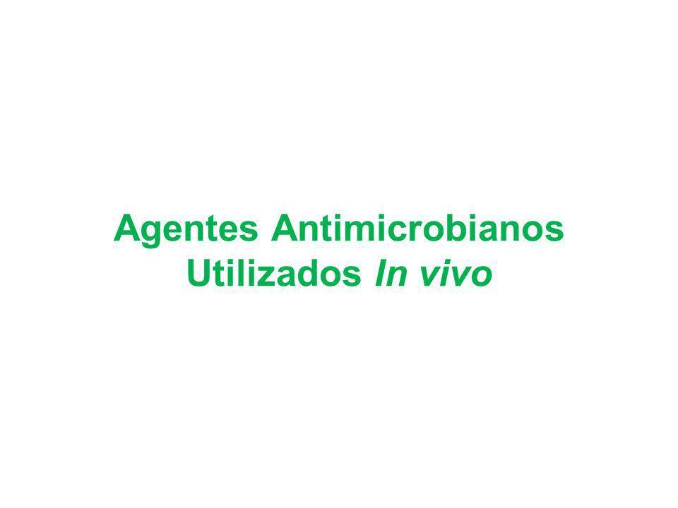 Agentes Antimicrobianos Utilizados In vivo