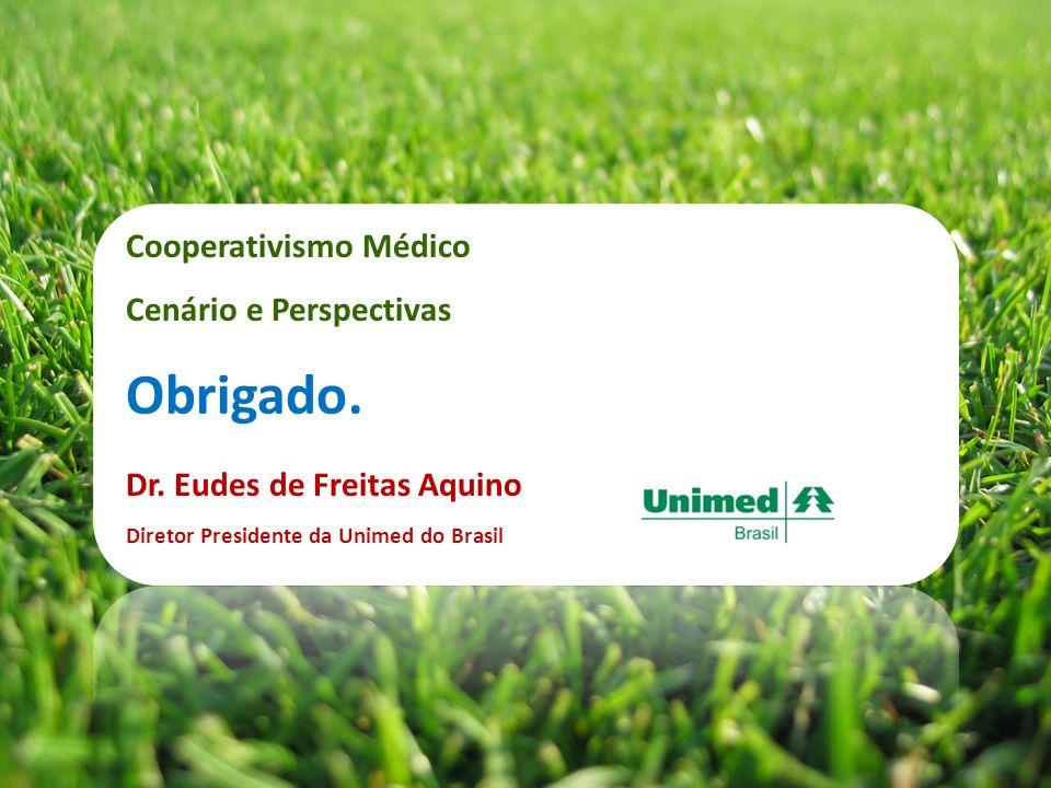 Dr. Eudes de Freitas Aquino Diretor Presidente da Unimed do Brasil Obrigado. Cooperativismo Médico Cenário e Perspectivas