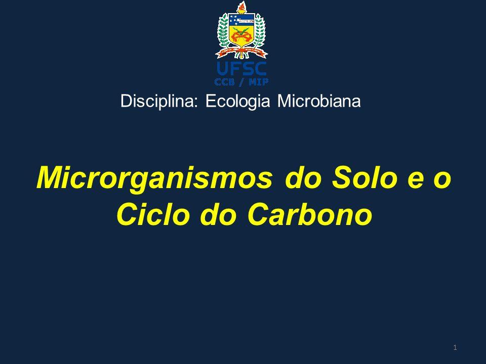 Microrganismos do Solo e o Ciclo do Carbono Disciplina: Ecologia Microbiana 1