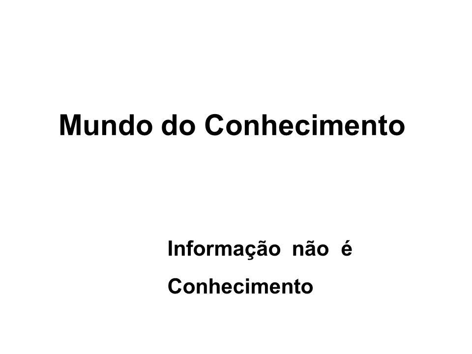 Necessidade de Integração dos Mundos Real, da Informação e de Dados COMPUTADOR / TECNOLOGIA DADOS INFORMAÇÃO REALIDADE CONHECIMENTO SABER