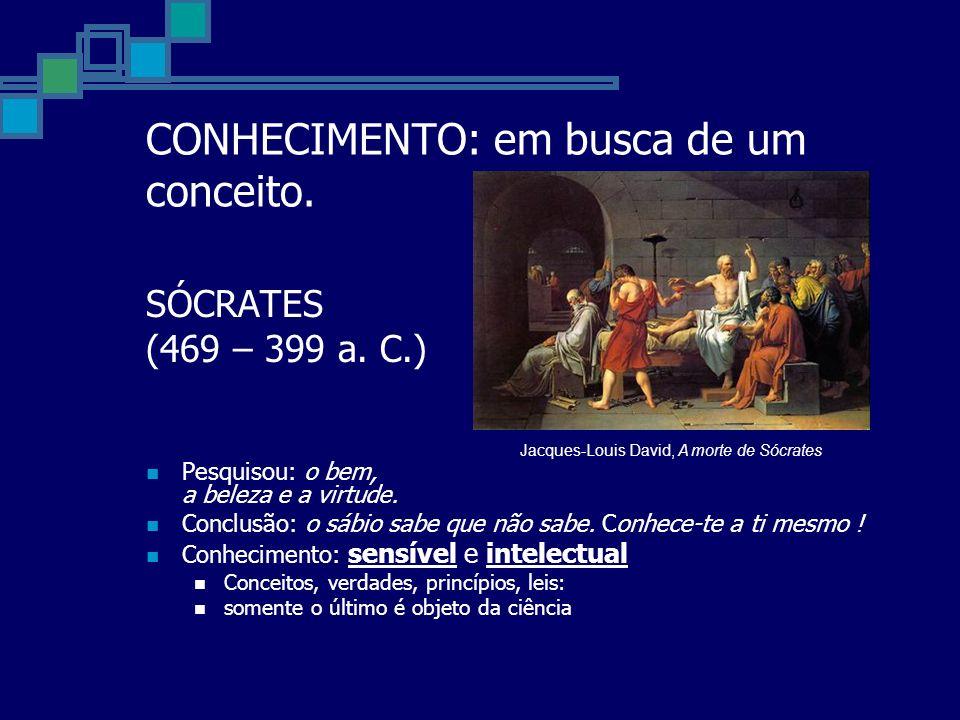 CONHECIMENTO: em busca de um conceito.SÓCRATES (469 – 399 a.