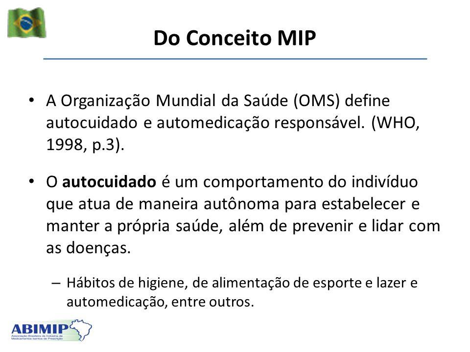 A Organização Mundial da Saúde (OMS) define autocuidado e automedicação responsável. (WHO, 1998, p.3). O autocuidado é um comportamento do indivíduo q