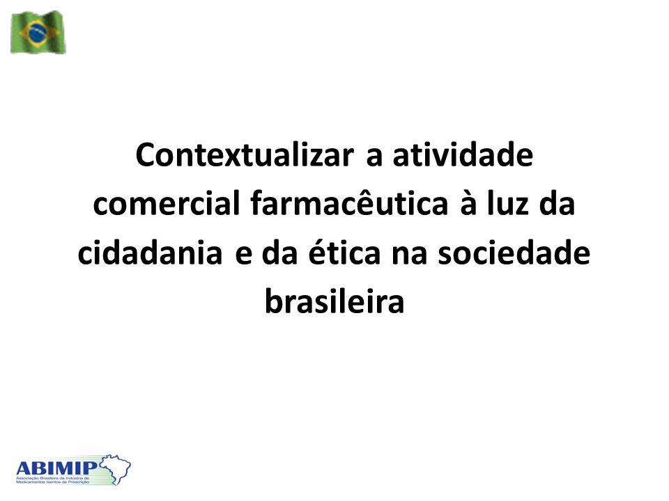 Contextualizar a atividade comercial farmacêutica à luz da cidadania e da ética na sociedade brasileira