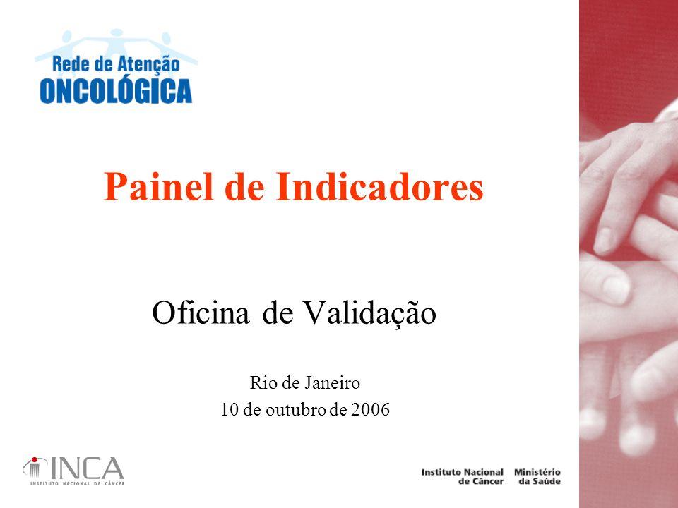 Painel de Indicadores Oficina de Validação Rio de Janeiro 10 de outubro de 2006