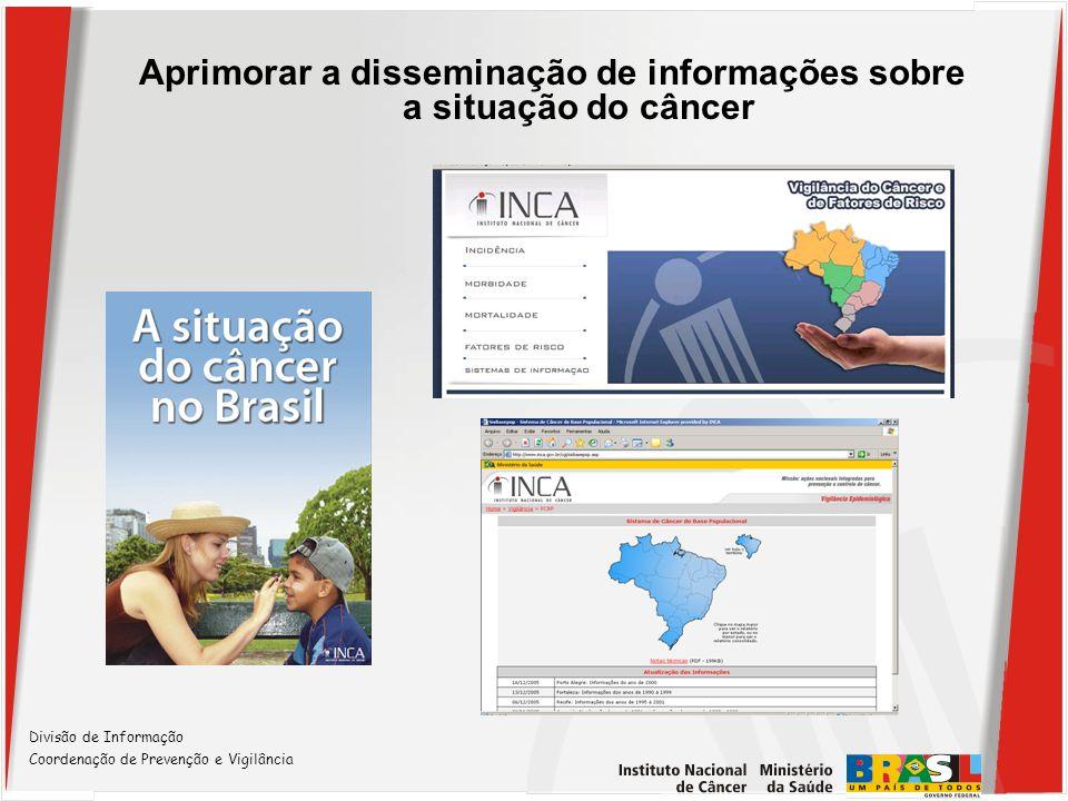 1.Projetos pelo CEPESC com dados de câncer: Análise espacial - Geoprocessamento Avaliação de sobrevida – RHC/INCA Relacionamento de bases de dados Painel de Mortalidade – sítio RAO/vigilancia 2.Projeto Mapeamento de fluxos inter-municipais – câncer da mama (Projeto INCA - FIOCRUZ) 3.Projeto Mapeamento de fluxos do Câncer de Colo Uterino no RJ (FAPERJ) com Fiocruz, IBGE, NESC/UFRJ e UNIRIO Outros Projetos em desenvolvimento Divisão de Informação Coordenação de Prevenção e Vigilância