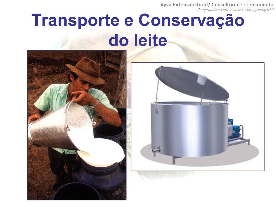 Transporte e Conservação do leite Vyva Extensão Rural/ Consultoria e Treinamento Compromisso com o sucesso do agroneg ó cio