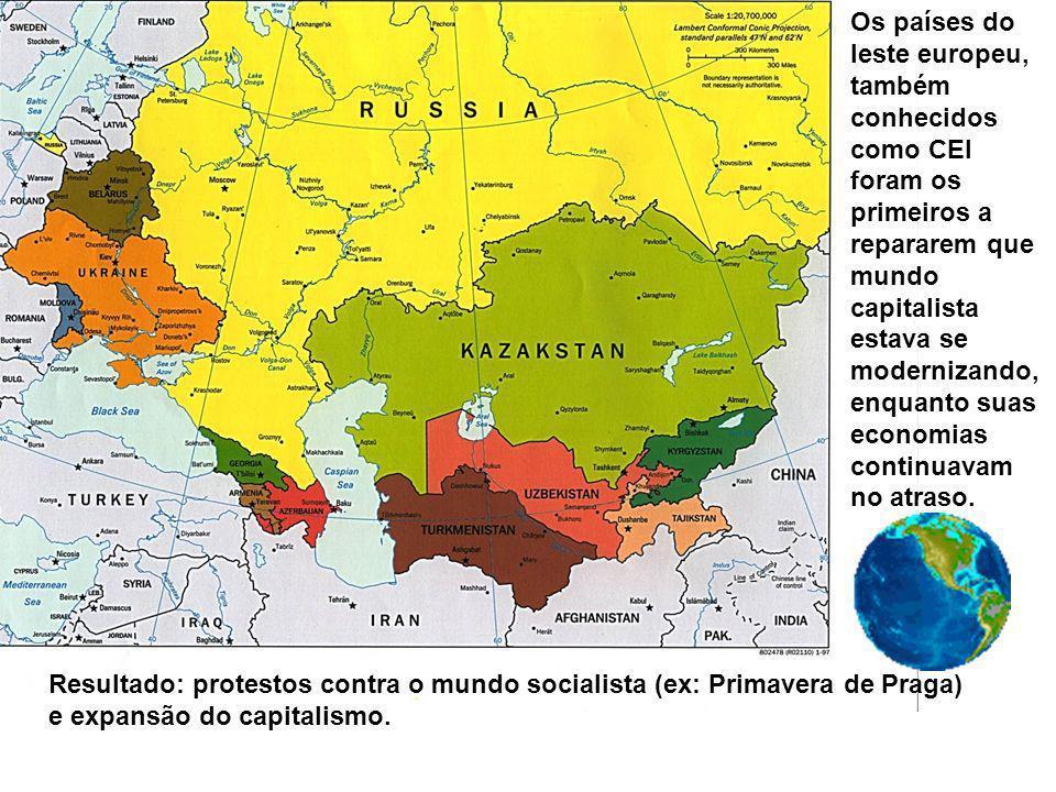 Os países do leste europeu, também conhecidos como CEI foram os primeiros a repararem que mundo capitalista estava se modernizando, enquanto suas econ