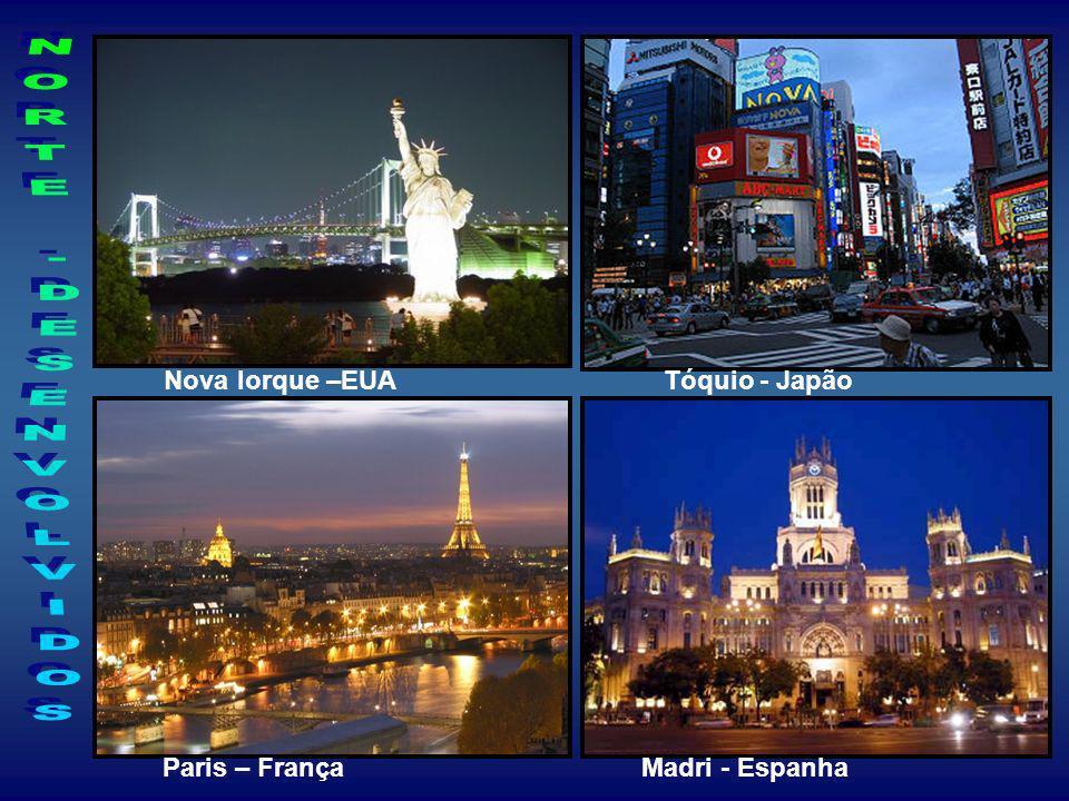 Nova Iorque –EUA Tóquio - Japão Paris – França Madri - Espanha