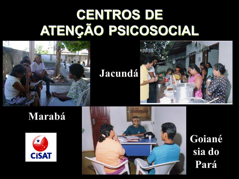 CENTROS DE ATENÇÃO PSICOSOCIAL Marabá Goiané sia do Pará Jacundá