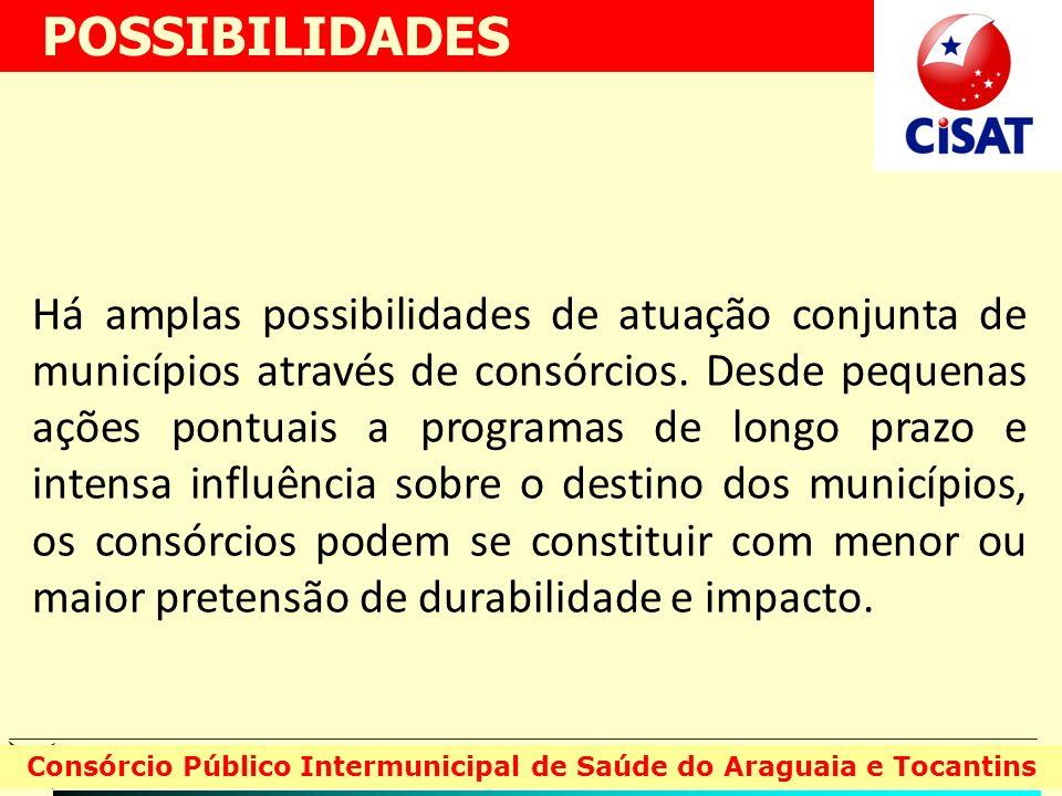 Há amplas possibilidades de atuação conjunta de municípios através de consórcios. Desde pequenas ações pontuais a programas de longo prazo e intensa i