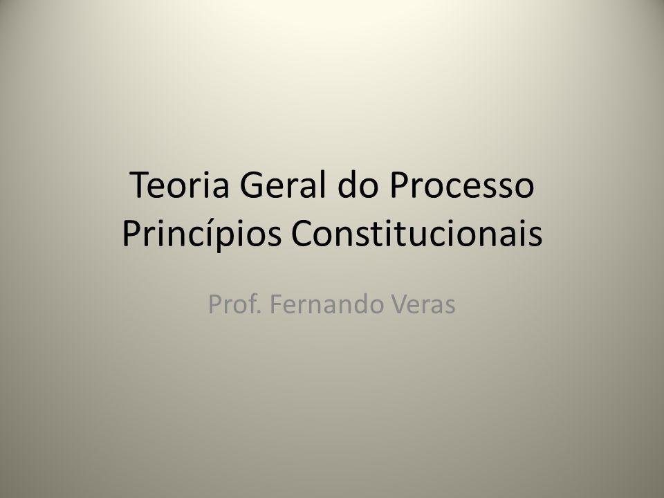 Teoria Geral do Processo Princípios Constitucionais Prof. Fernando Veras