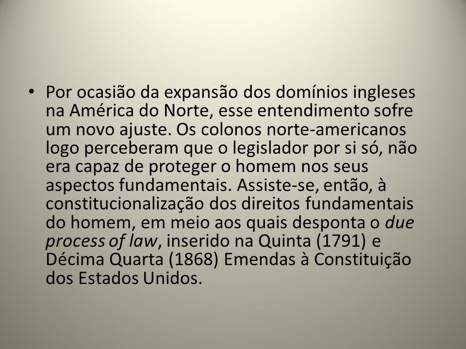 Por ocasião da expansão dos domínios ingleses na América do Norte, esse entendimento sofre um novo ajuste. Os colonos norte-americanos logo perceberam