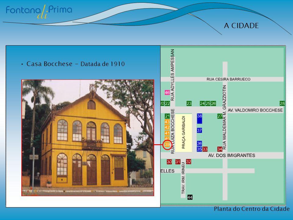 A CIDADE Planta do Centro da Cidade Casa Bocchese - Datada de 1910