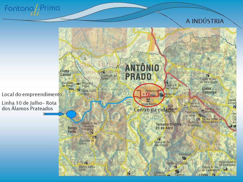 A INDÚSTRIA Local do empreendimento Linha 10 de Julho- Rota dos Álamos Prateados Centro da cidade