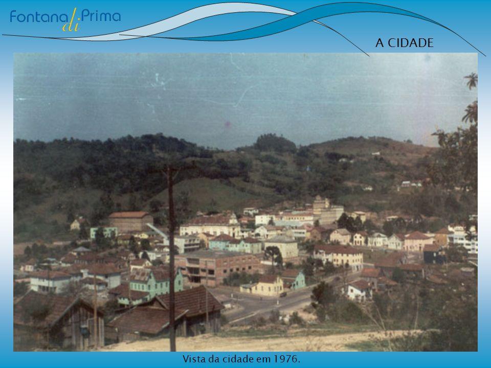 Vista da cidade em 1976.