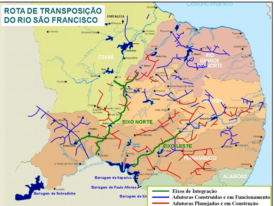 Projeto de Integração do Rio São Francisco às Bacias do Nordeste Setentrional Histórico: o projeto foi apresentado e debatido pela primeira vez no ano de 1918, sendo lembrando sempre em situações de estiagens;