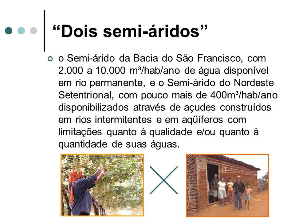 Segundo o ex-ministro Ciro Gomes, o padrão mínimo de acesso à água estabelecido pela ONU é de 1.500 m³/hab.