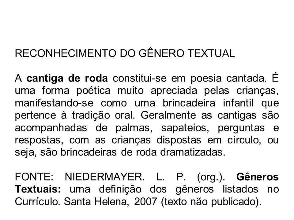 R I/TCCantigasAspecto tipológico predominante: NARRAR Domínio social da comunicação: cultura literária ficcional.