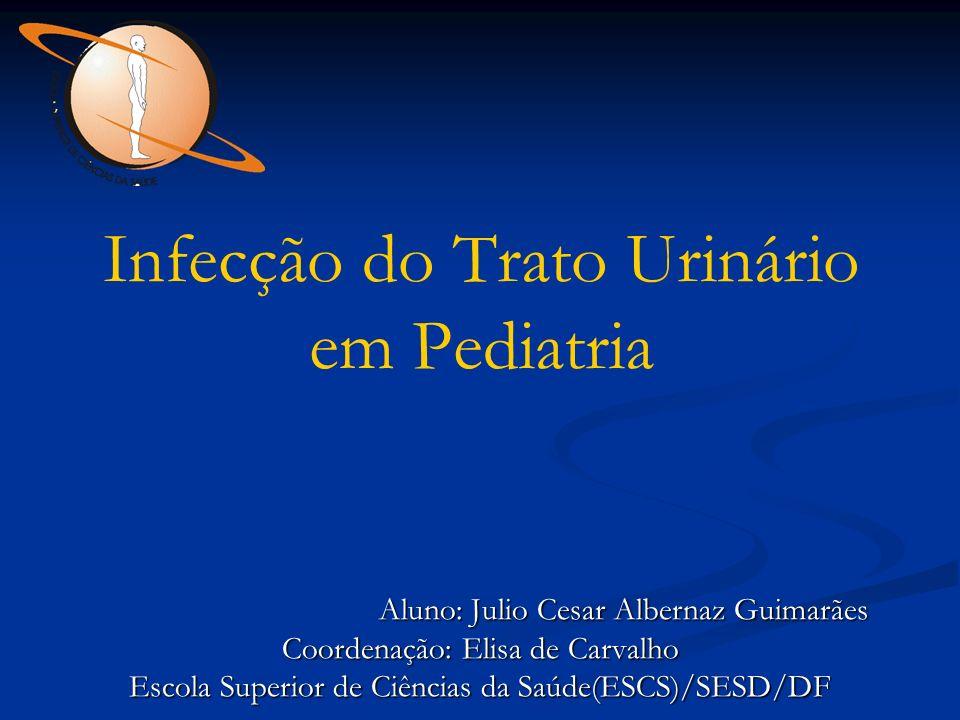 Infecção do Trato Urinário em Pediatria Aluno: Julio Cesar Albernaz Guimarães Aluno: Julio Cesar Albernaz Guimarães Coordenação: Elisa de Carvalho Esc