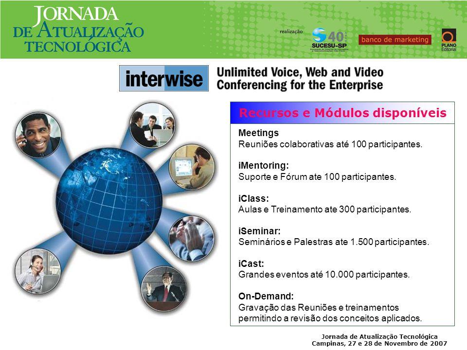 Jornada de Atualização Tecnológica Campinas, 27 e 28 de Novembro de 2007 INTERFACE