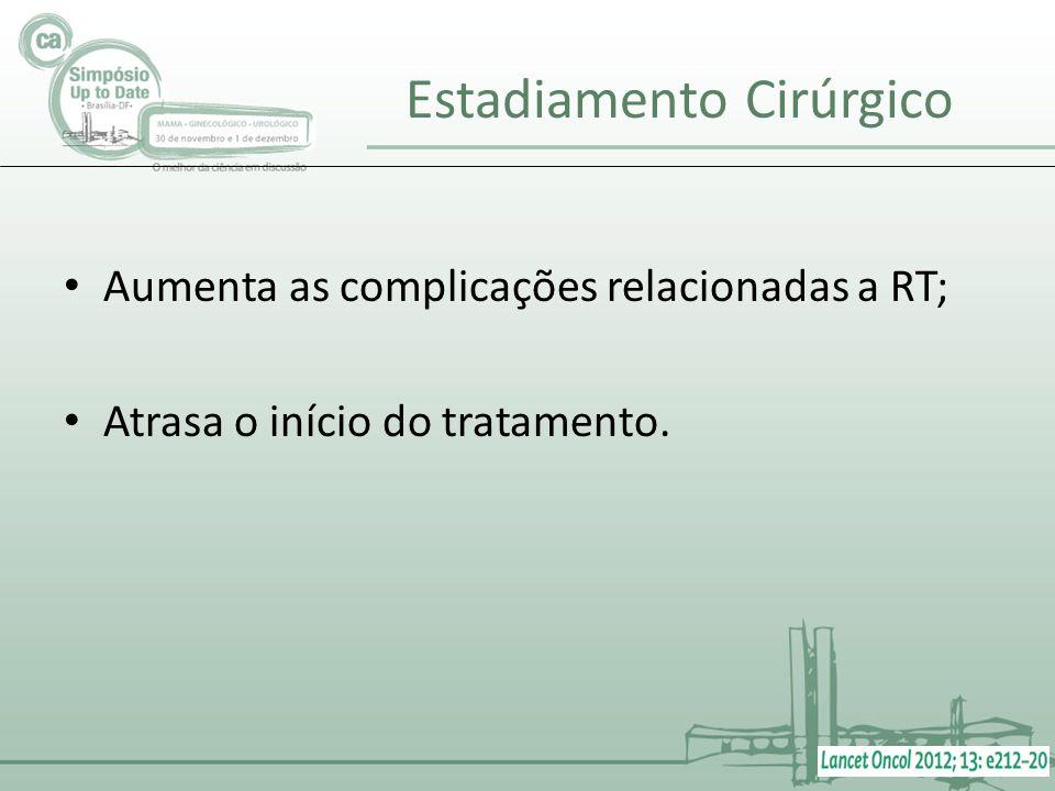 Aumenta as complicações relacionadas a RT; Atrasa o início do tratamento.