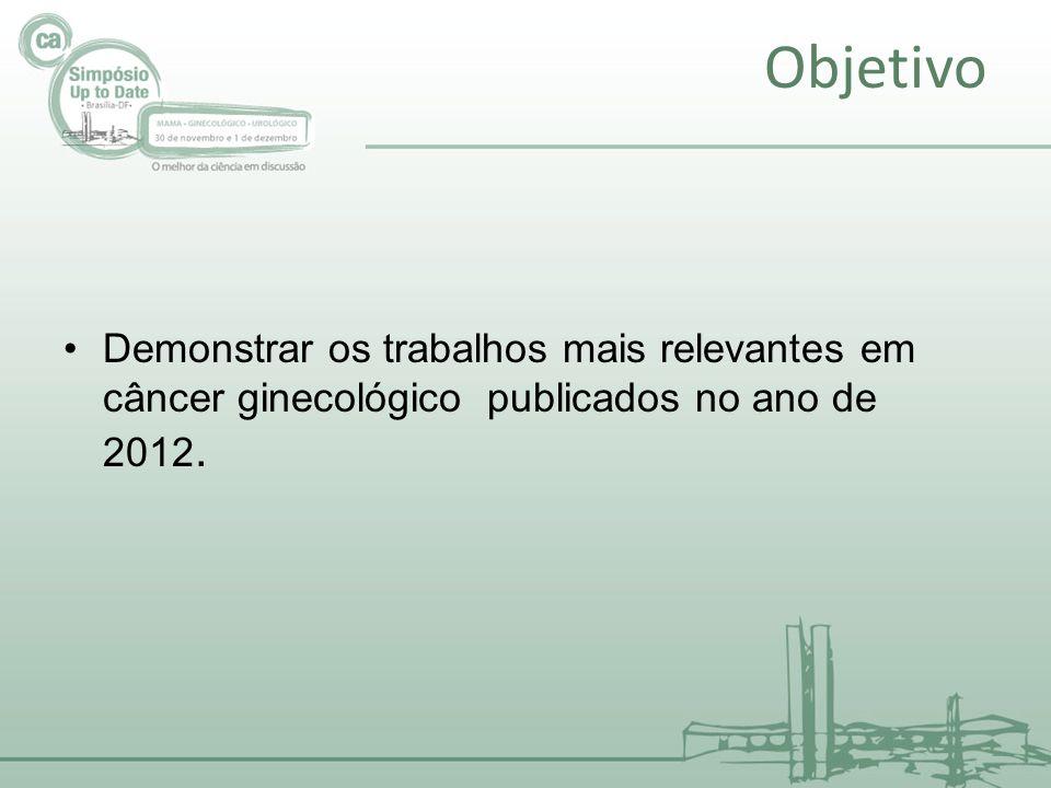 Objetivo Demonstrar os trabalhos mais relevantes em câncer ginecológico publicados no ano de 2012.