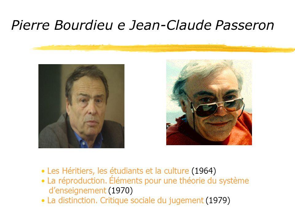 Pierre Bourdieu e Jean-Claude Passeron Les Héritiers, les étudiants et la culture (1964) La réproduction.