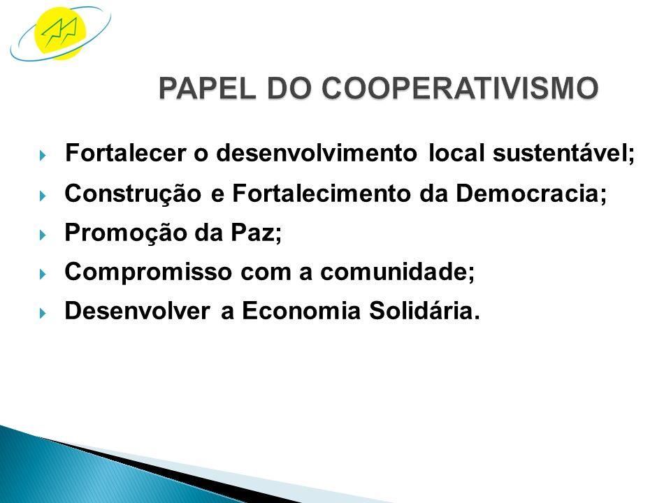 O cooperativismo constitui-se como um dos fatores dinâmicos e regulado- res do capital social na sociedade civil. Tanto pelo seu caráter associativo,