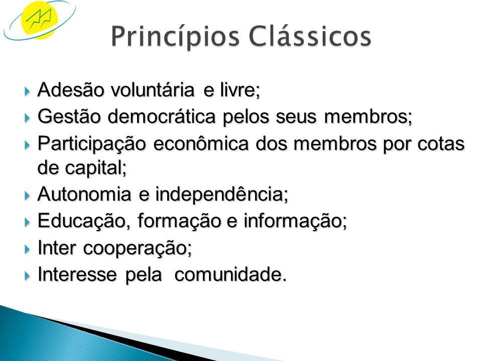 Diretrizes pelas quais as cooperativas colocam em prática seus valores: Estes princípios foram definidos no processo de criação da primeira cooperativ