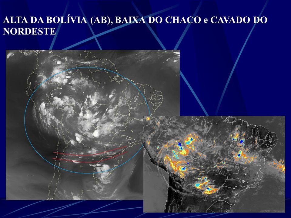 ALTA DA BOLÍVIA (AB), BAIXA DO CHACO e CAVADO DO NORDESTE Os VCANs que atuam no NE são observados nas estações de primavera, verão e outono, com máxima frequência no mês de janeiro.