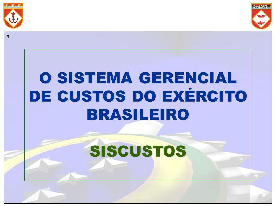 4 O SISTEMA GERENCIAL DE CUSTOS DO EXÉRCITO BRASILEIRO SISCUSTOS