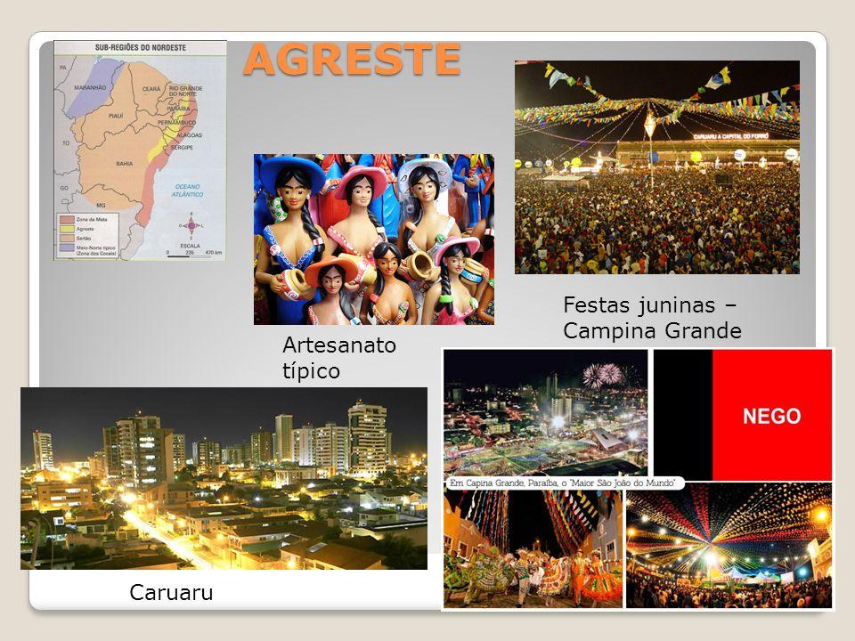 AGRESTE Caruaru Festas juninas – Campina Grande Artesanato típico