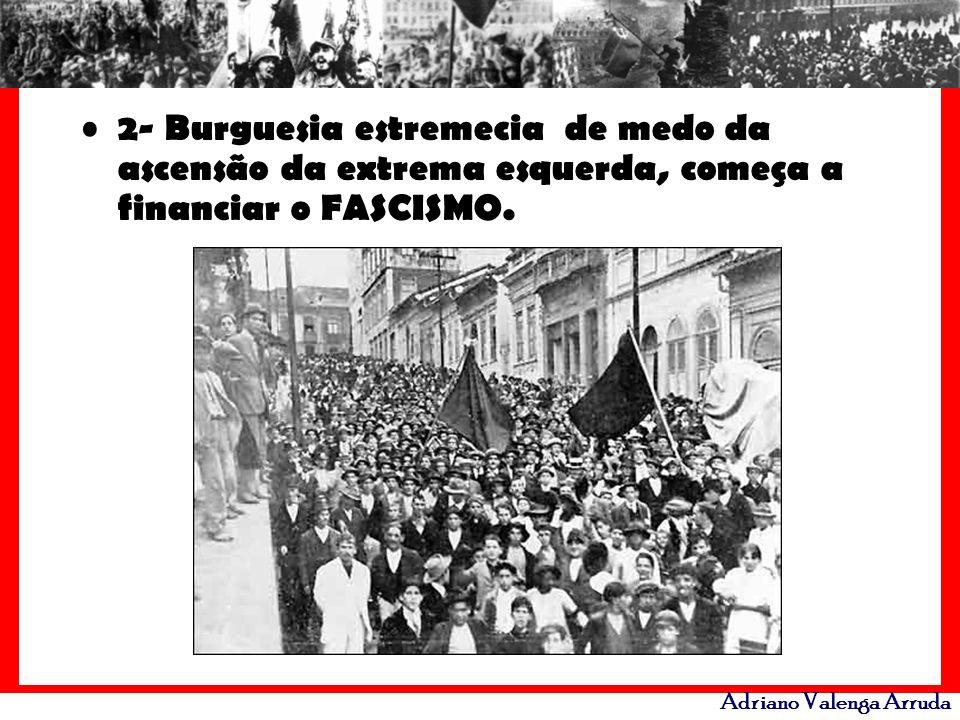 Adriano Valenga Arruda 2- Burguesia estremecia de medo da ascensão da extrema esquerda, começa a financiar o FASCISMO.