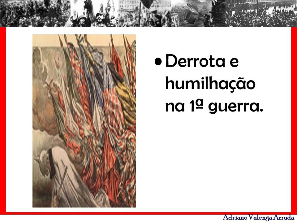 Adriano Valenga Arruda Derrota e humilhação na 1ª guerra.