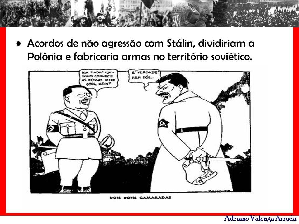 Adriano Valenga Arruda Acordos de não agressão com Stálin, dividiriam a Polônia e fabricaria armas no território soviético.