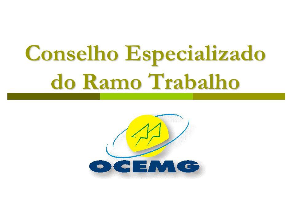 FINALIDADES O Conselho Especializado do Ramo Trabalho é órgão consultivo e de assessoramento do Sindicato e Organização das Cooperativas do Estado de Minas Gerais – OCEMG.
