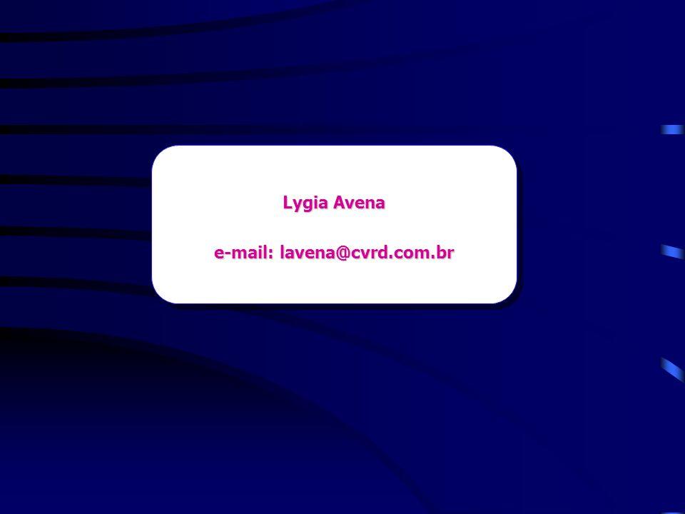 Lygia Avena e-mail: lavena@cvrd.com.br Lygia Avena e-mail: lavena@cvrd.com.br