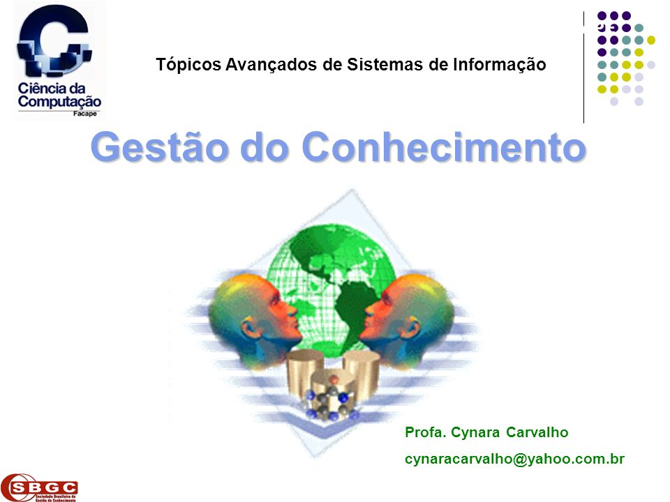 Faculdade de Ciências Aplicadas e Sociais de Petrolina- FACAPE Tópicos Avançados de Sistemas de Informação Gestão do Conhecimento Profa. Cynara Carval