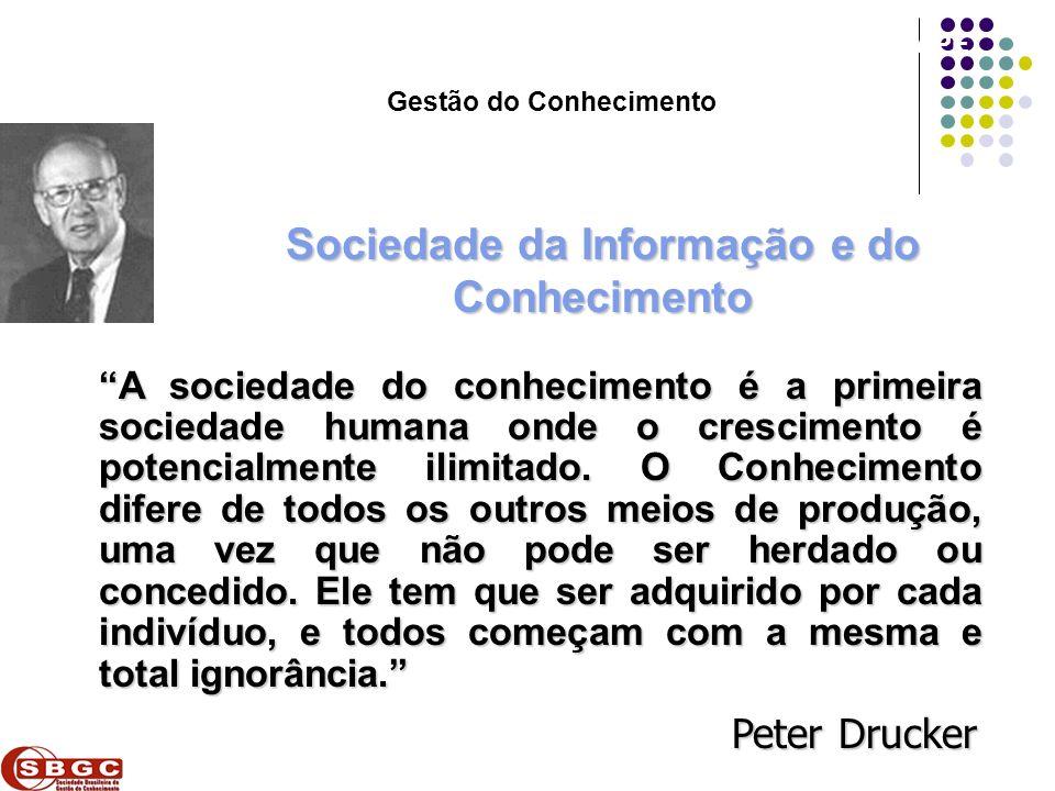 Faculdade de Ciências Aplicadas e Sociais de Petrolina- FACAPE Sociedade da Informação e do Conhecimento Peter Drucker A sociedade do conhecimento é a