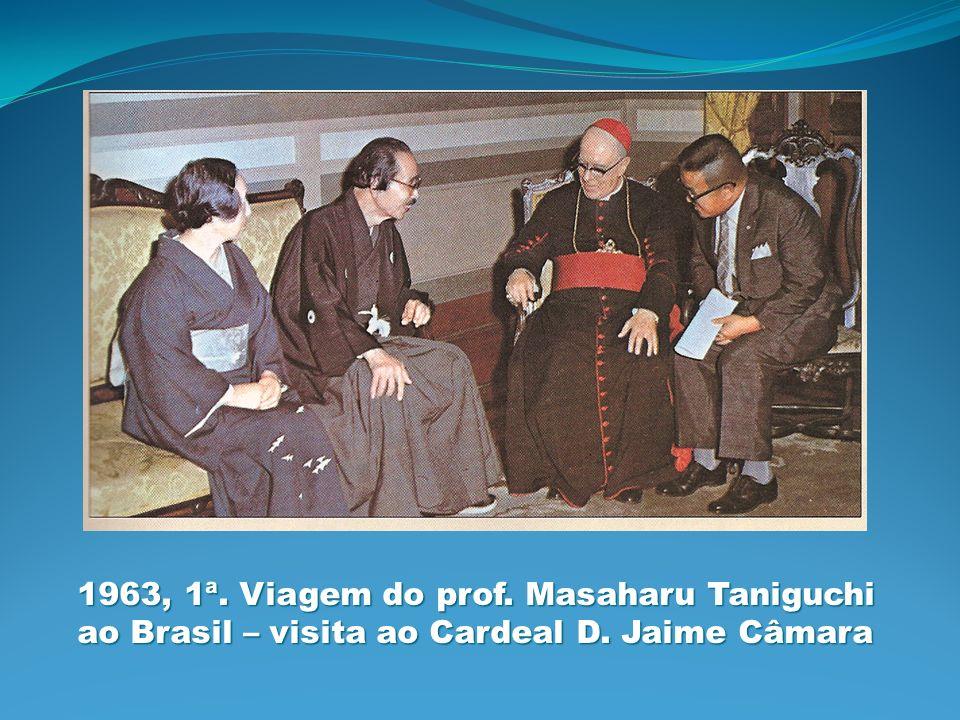 1963, 1ª. Viagem do prof. Masaharu Taniguchi ao Brasil – visita ao Cardeal D. Jaime Câmara