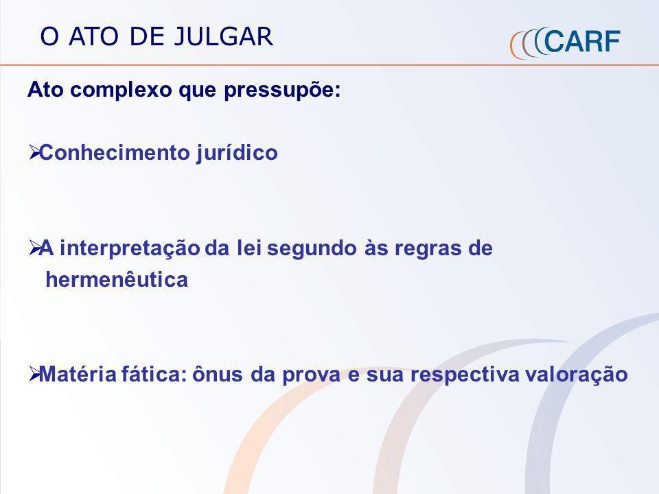 O JULGAMENTO ADMINISTRATIVO Natureza do julgamento : colegiado Composição: paritária Perfil dos julgadores: especialistas em Direito Tributário, repre
