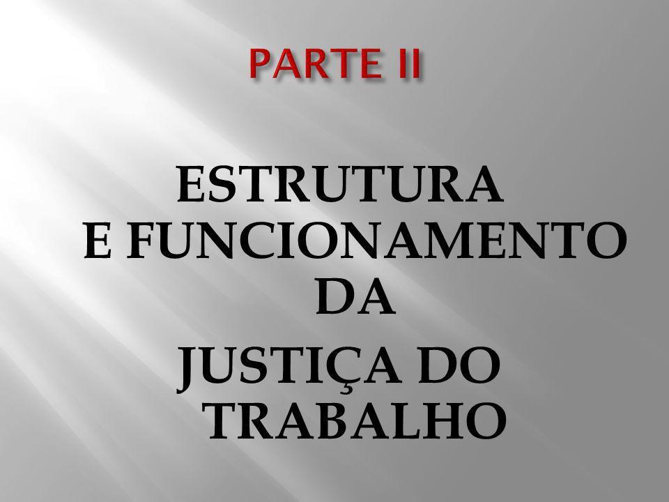 ESTRUTURA E FUNCIONAMENTO DA JUSTIÇA DO TRABALHO