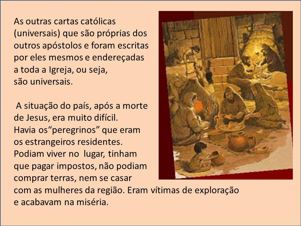As outras cartas católicas (universais) que são próprias dos outros apóstolos e foram escritas por eles mesmos e endereçadas a toda a Igreja, ou seja,