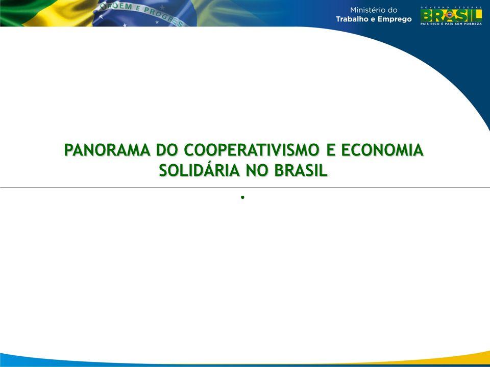 PANORAMA DO COOPERATIVISMO E ECONOMIA SOLIDÁRIA NO BRASIL.