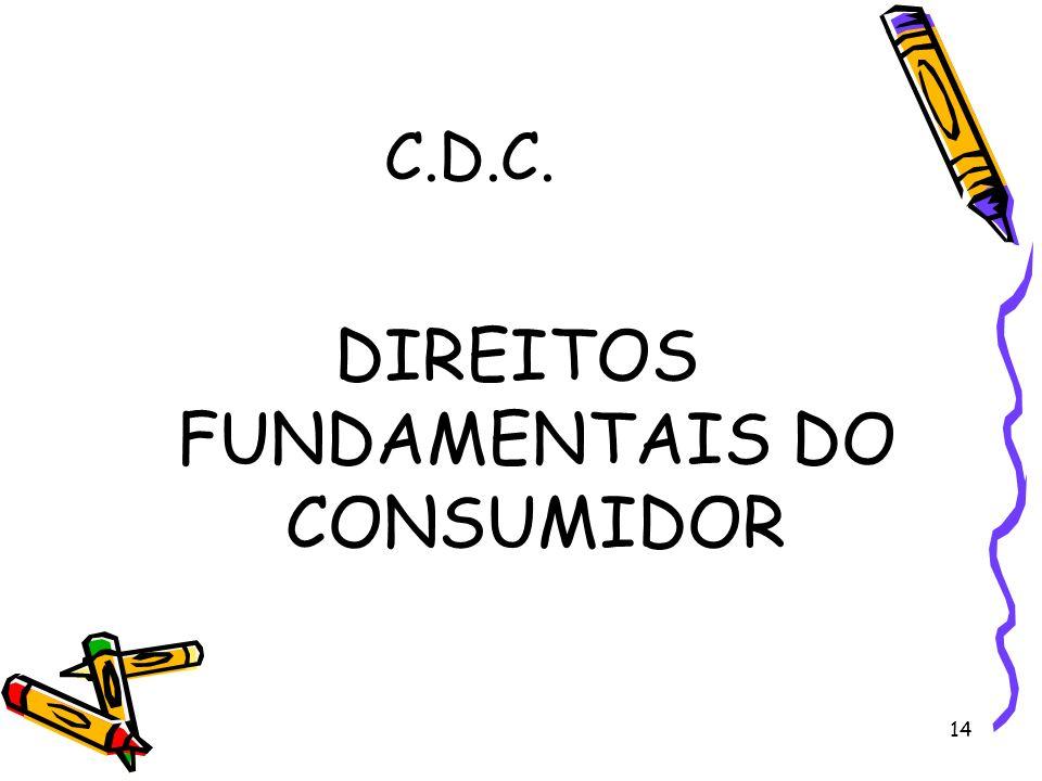 14 C.D.C. DIREITOS FUNDAMENTAIS DO CONSUMIDOR