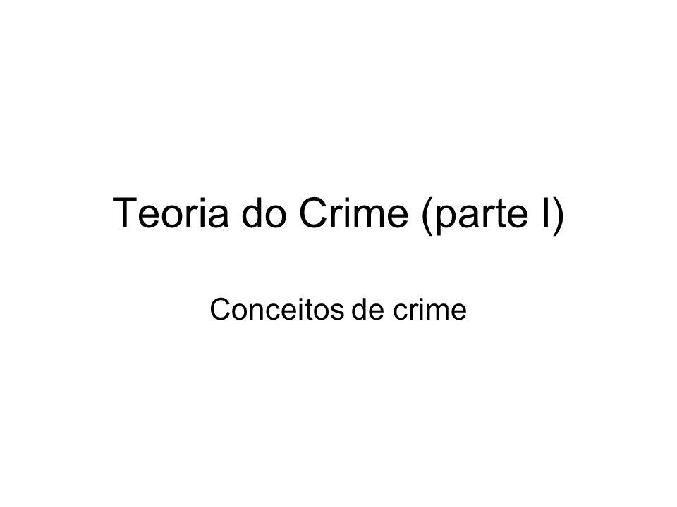 Conceito de crime ANALÍTICO MATERIAL LEGAL FORMAL