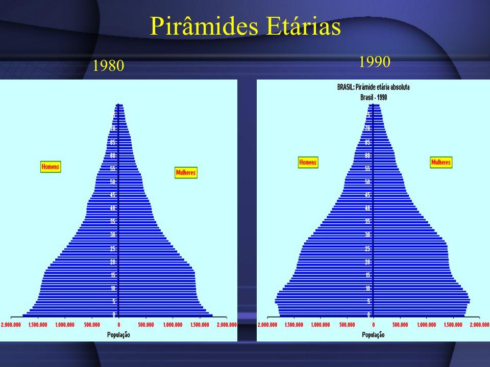 Pirâmides Etárias 1980 1990