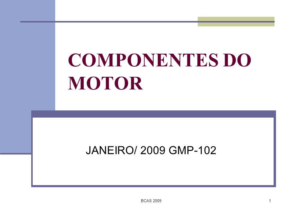 BCAS 200932 COMPRESSOR AXIAL A taxa de compressão de cada estágio é em média 1,14.