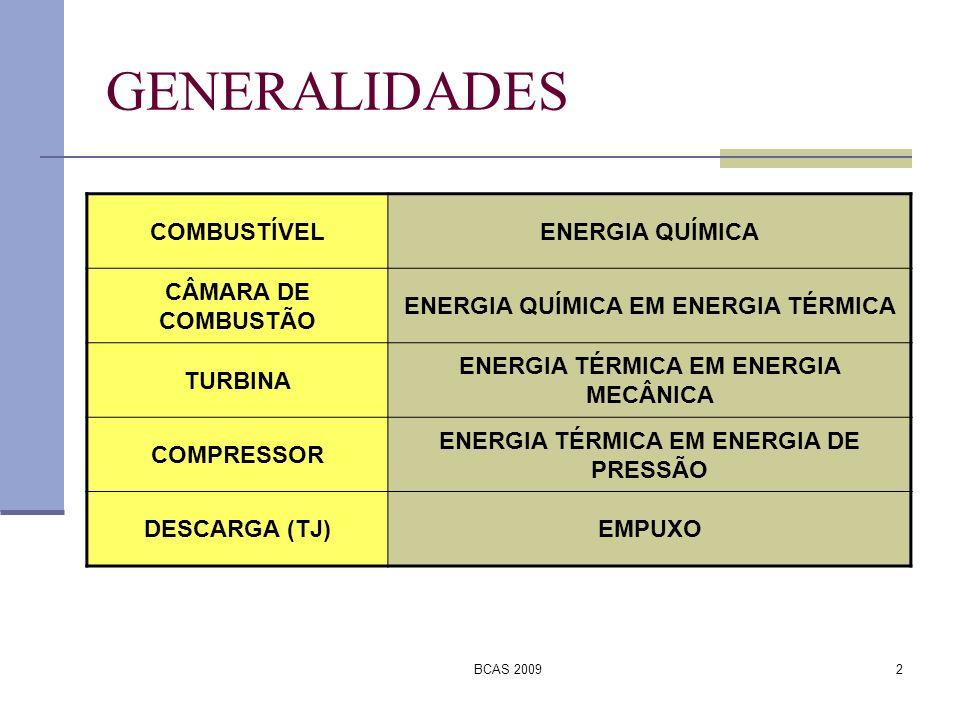 BCAS 20093 GENERALIDADES Orientação dos gases: Carcaça externa.
