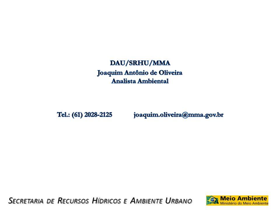 S ECRETARIA DE R ECURSOS H ÍDRICOS E A MBIENTE U RBANO